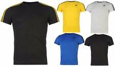 adidas Essentials 3 Stripe T Shirt Mens Short Sleeves Climalite All sizes S-XXL