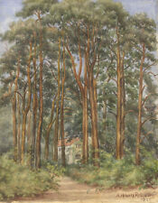 A. Howard Robinson - 1928 Watercolour, House beyond the Woods