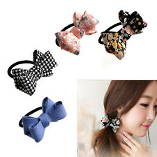 Womens Charm Bow Knot Hair Band Elastic Rope Ring Hairband Scrunchie Ponytail