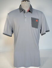 Adidas Golf ClimaCool Gray Short Sleeve Polo Shirt Mens NWT