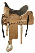 """Roper Saddle Leather Seat 16"""" FQHB Warrantied for Roping 2 Colors available NEW"""