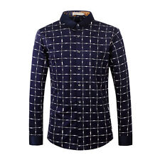 Luxury Fashion Brand Men Highquality Long Sleeve Business Casual Shirts Slim Fit