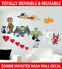 Halloween Monsters Movable Wall Sticker Decal Easy Remove / Reuse Decor