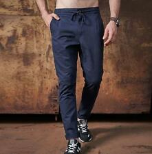 Mens Casual Pant cotton blend Slim fit elastic street tide show stylish Trousers