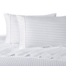 Olympic Queen Size 300 Thread Count Stripe 4pc Sheet Sets 100%Cotton deep pocket