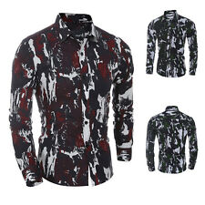 Men's Fashion Stylish Dress Fit T-Shirt Camouflage Casual Long Sleeve Shirt Tops