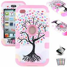 For iPod Touch 4th Generation 4G Case Hybrid Deluxe 3-Piece Cover NEW