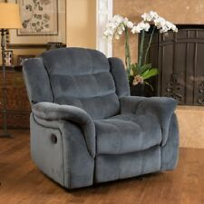 Recliner Fabric Glider Club Chair Elevates Livingroom