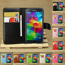 Flip Leather Wallet Case Cover For SAMSUNG GALAXY S5 MINI & Screen Protector