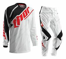 NEW Thor MX Gear Set Phase Vented White Black Motocross Pants + FREE JERSEY