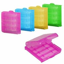 2/5x Practical Plastic Translucent Cases Holders Storage Box for AA AAA Battery