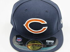 New Era Chicago Bears NFL Authentic 59Fifty Blue Fitted Hat Baseball Cap