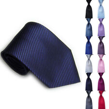 Men Classic Striped Ties WOVEN JACQUARD Silk Suits Formal Tie Necktie Fashion