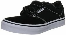 Kids Vans Atwood V Suede Canvas VN-0RQYBA2 Black White 100% Authentic Brand New