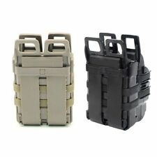 New Fast Attach Molle Rifle 5.56 Mag/Pistol Double Magazine Pouch Set Black/Tan
