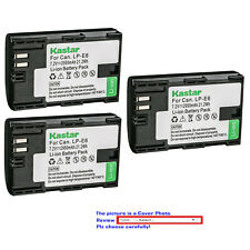 Kastar Battery for Canon LP-E6 LP-E6N LC-E6 EOS 5DS 5D Mark II III 6D 7D MarkII