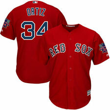 Men's Boston Red Sox David Ortiz Red Alt. Cool Base Jersey with Retirement Patch