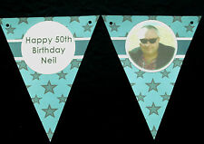 PAPER BUNTING - PERSONALISED - ANY NAME, AGE, ETC - PHOTOGRAPH