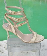 Donald Pliner $325 COUTURE METALLIC SNAKE LEATHER Shoe NIB STRAPPY SANDAL EVENT