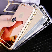 Mirror Electroplating Soft Clear Back Cover Case For iPhone6 Plus iPhone6S Plus