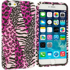 For Apple iPhone 6S (4.7) TPU Design Silicone Soft Cover Case Pink Zebra Leopard