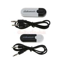 Wireless Bluetooth 3.5mm Stereo Audio Music Dongle Receiver Adapter Connector