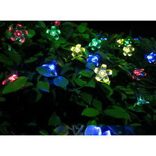 2pcs 50 LED Fairy Lights Solar String Lamps Festival Wedding Party Garden Decor
