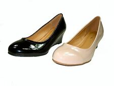Top Moda Aloe-2 women's 2 inch wedge high heel patent pumps dress work shoes