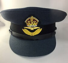 RAF Officers Peak Cap No1 Dress Cap, Hat, Kings Crown Badge, Military,