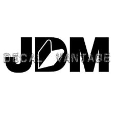 JDM Logo Style D Vinyl Sticker Decal Drift Race Japan - Choose Size & Color