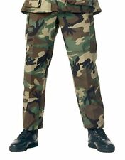 Woodland BDU Pants Camouflage Military Cargo Fatigue Rothco 7941