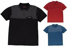 Pierre Cardin XL Panel Polo Shirt Mens Short Sleeve Top ~All Sizes 3XL - 6XL