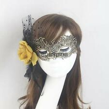 Elegant Lady Flower Feather Lace Eye Mask Masquerade Halloween Party Costume
