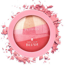 Fashion 3Colors Blush Cheek Makeup Blusher Soft Natural Blush Highlighter Powder