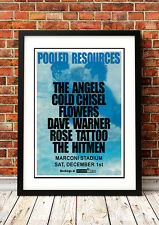 The Angels / Doc Neeson - Retro Vintage Rock Band Music Concert Posters
