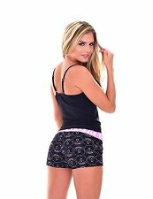 Women's Two Piece PJ with Tank Top & Short -Camisole & Short Pajama SET - Pink