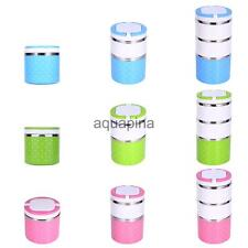 Stainless Steel Thermal Insulated Lunch Box Bento Food Container Handle 3 Colors