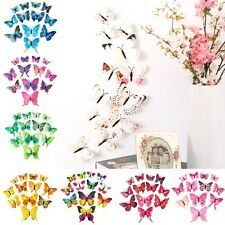 3D Butterfly Sticker Design Decal Art Wall Stickers Home Decorations Decor Room