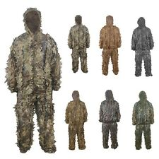 Durable Woodland Sniper Ghillie Suit 3D Leaf Camouflage Jungle Hunting Birding