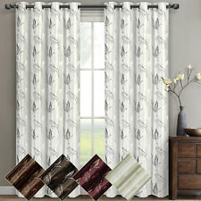 """Olivia Embroidered Lined Grommet Window Curtain (Set of 2) Panels 104W x 84""""L"""