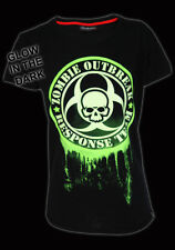 DARKSIDE ZOMBIE OUTBREAK RESPONSE TEAM GLOW IN THE DARK BLACK T SHIRT NEW