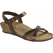 Papillio Birkenstock ALYSSA Ladies Womens Summer Open Toe Wedge Sandals Toffee