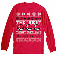 The Best There Ever Was - Ugly Christmas Sweater Style - LONG SLEEVE T-shirt