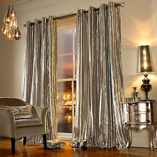 Iliana Praline Lined Velvet Ringtop/Eyelet Ready Made Curtain By Kylie Minogue