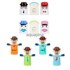 Creative Automatic Toothpaste Dispenser Toothbrush Holder Brush Cup Wall Mount