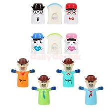 Love House & Cowboy Automatic Toothpaste Dispenser+Toothbrush Holder+Brush Cup