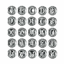 New Authentic 925 Sterling Silver Alphabet Collection Name Letter Charm Beads