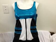 Dance Costume Small Large Adult Blue Hip Hop 2pc Street Jazz Solo Competition