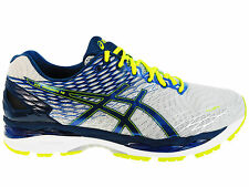 NEW MENS ASICS GEL-NIMBUS 18 RUNNING SHOES TRAINERS SILVER / INK / FLA 4E XWIDE
