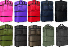 """30""""/36""""/40"""" Expandable Rolling Duffel Bag Wheeled Spinner Suitcase Luggage"""